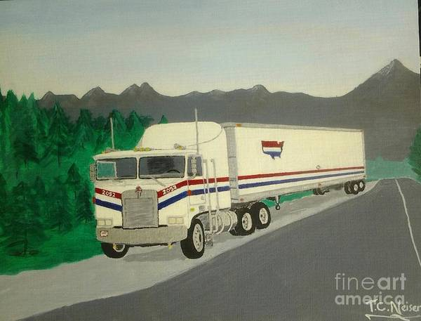Kenworth Painting - Countrywide Kenworth by Tim Neiser