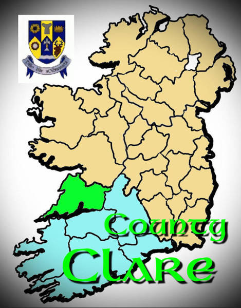 Digital Art - County Clare   by Val Byrne