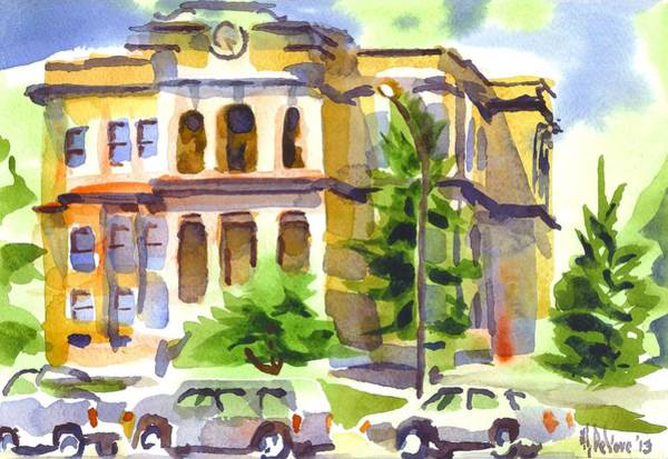 Painting - County Courthouse by Kip DeVore