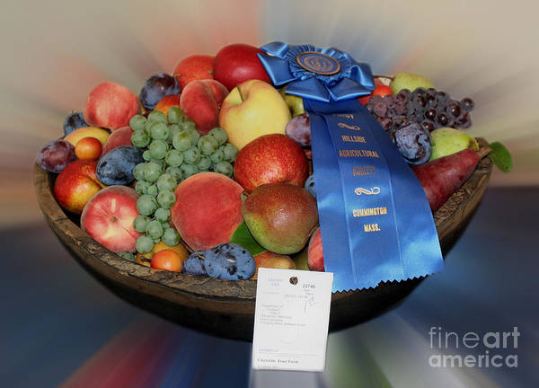 Photograph - County Fair Blue Ribbon Fruit by Smilin Eyes  Treasures