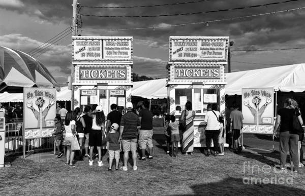 Photograph - County Fair Tickets Mono by John Rizzuto