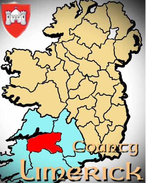 Digital Art - County Limerick by Val Byrne
