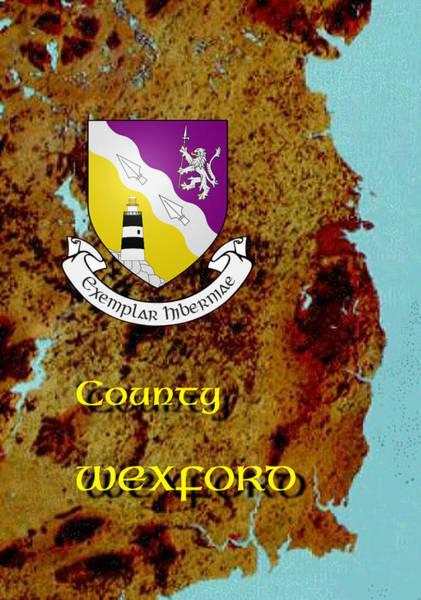 Digital Art - County Wexford by Val Byrne