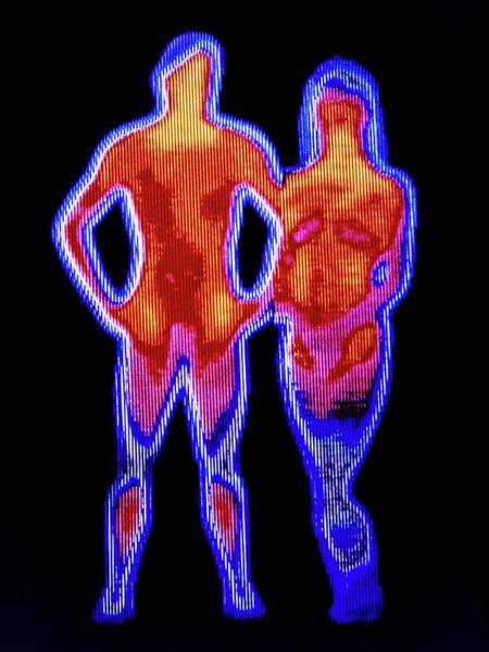 Infrared Radiation Photograph - Couple by Alfred Pasieka