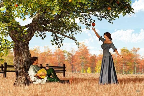 Wall Art - Digital Art - Couple At The Apple Tree by Daniel Eskridge
