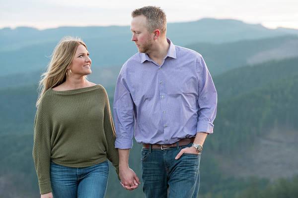 Oregon Ridge Photograph - Couple Holding Hands With Ridgeline by Joshua Rainey