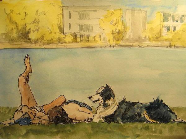 Couple In The Spree Art Print