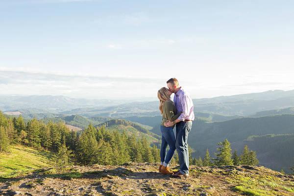 Oregon Ridge Photograph - Couple Kissing In Natural Scenery by Joshua Rainey