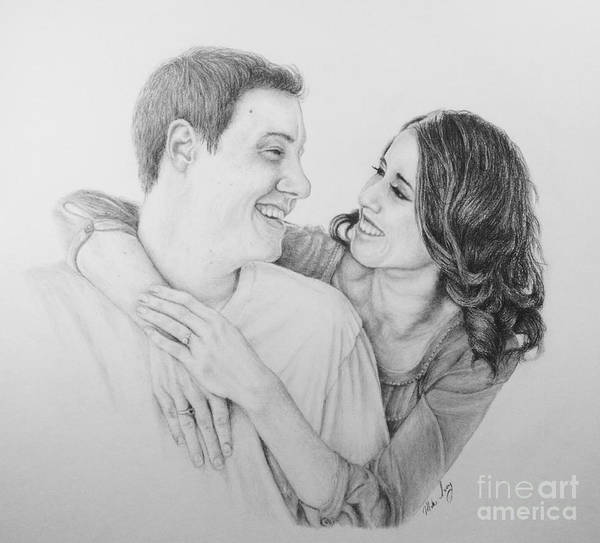 Drawing - Couple by Mike Ivey