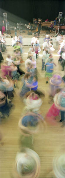 Folk Dances Photograph - Couple Performing Contra Dance by Panoramic Images