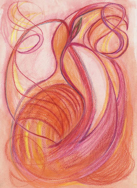 Mixed Colors Drawing - Courage's Nourishment by Kelly K H B