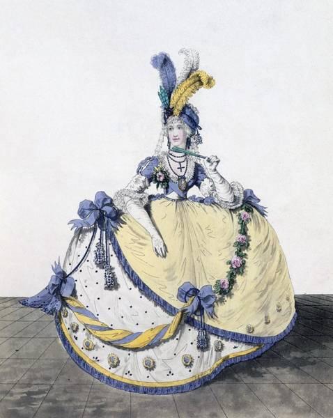 Royal Court Drawing - Court Dress, Fig. 106 From The Gallery by Nicolaus von Heideloff
