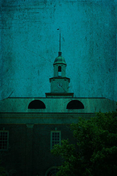 Mixed Media - Court House Steeple Fayetteville Tennessee by Lesa Fine