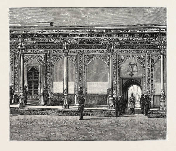 Royal Court Drawing - Court Of The Palace Of The Ex-khan Of Khokan by English School