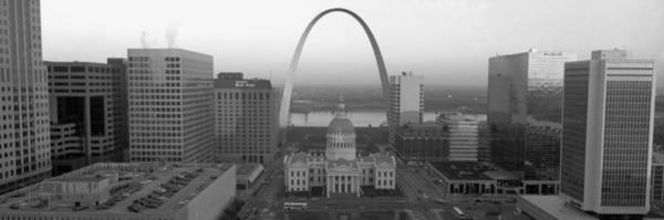 Wall Art - Photograph - Courthouse & Memorial Arch, St. Louis by Panoramic Images