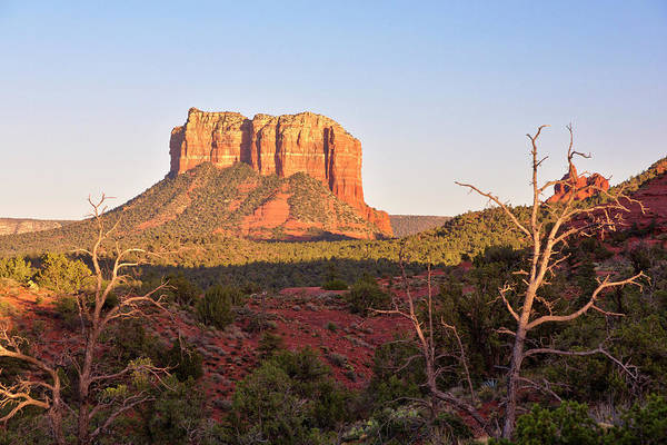High Dynamic Range Imaging Photograph - Courthouse Butte At Sunset, Sedona by Picturelake
