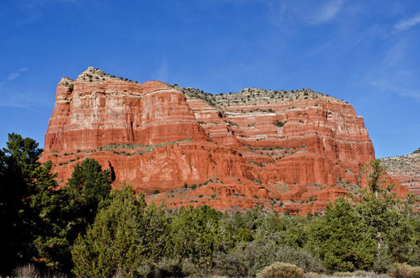 Stoney Photograph - Courthouse Butte Ribboned Red Rocks by Jan and Stoney Edwards