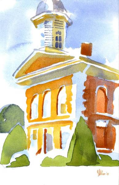 Painting - Courthouse In Early Morning Sunshine by Kip DeVore
