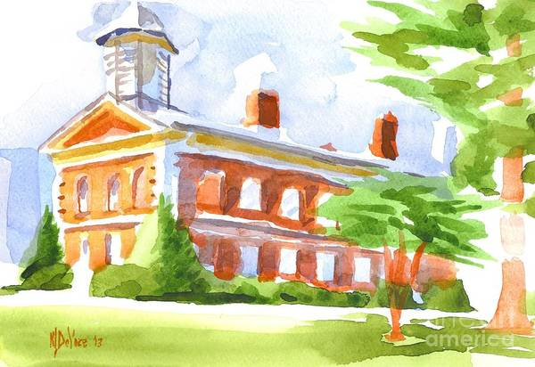 Painting - Courthouse In Summery Sun by Kip DeVore