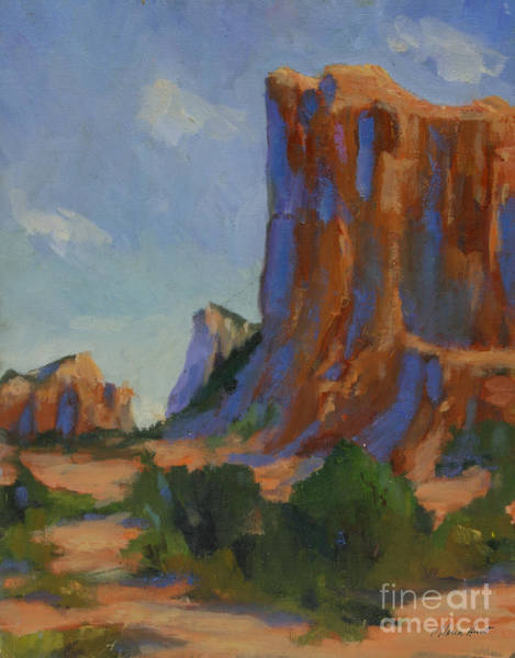 Red Rock Painting - Courthouse Rock II by Maria Hunt