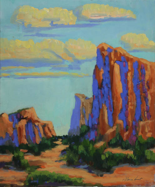 Sedona Painting - Courthouse Rock In Sedona by Maria Hunt