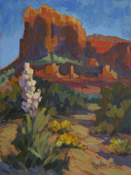 Courthouse Painting - Courthouse Rock Sedona by Diane McClary