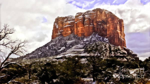 Painting - Courthouse Rock Sedona by Bob and Nadine Johnston