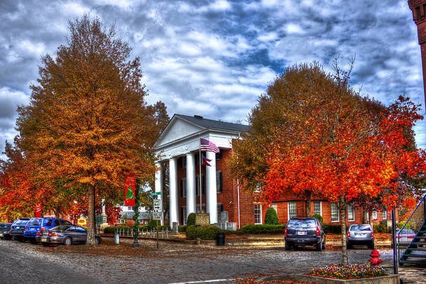 Photograph - Greene County Court House Courting Me  by Reid Callaway