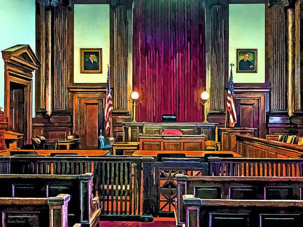 Courtroom Art Print