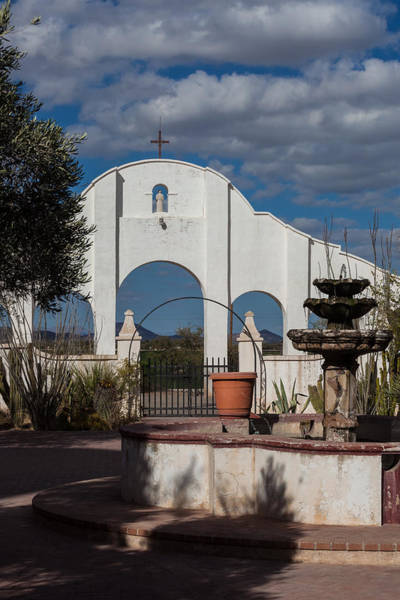 Photograph - Courtyard At The Mission by Ed Gleichman