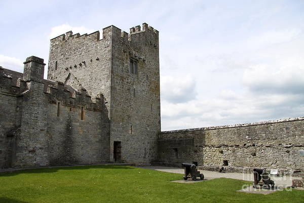 Suir Photograph - Courtyard Cahir Castle by Christiane Schulze Art And Photography