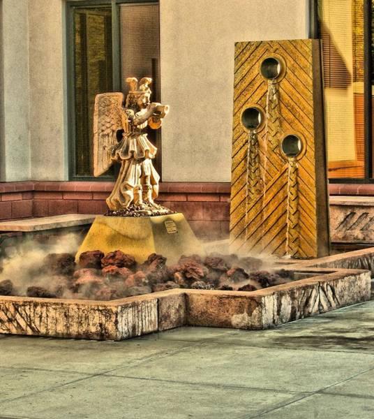 Digital Art - Courtyard Fountain St Marys Basilica Phoenix by Doug Morgan