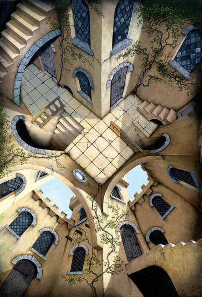 Perspective Digital Art - Courtyard by MGL Meiklejohn Graphics Licensing
