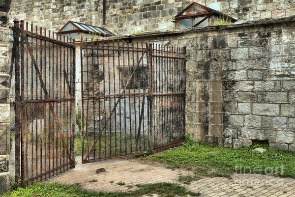Photograph - Courtyard At The Jail by Adam Jewell