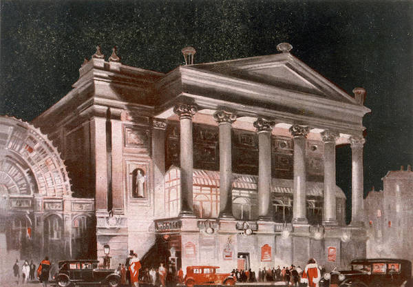 Night Time Drawing - Covent Garden Theatre At  Night by  Illustrated London News Ltd/Mar