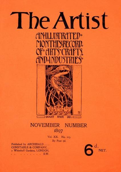 Magazine Cover Painting - Cover For The Artist Magazine, November 1897 by English School