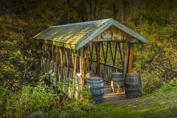 Photograph - Covered Bridge At Bowen's Cider Mill by Randall Nyhof