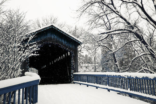 Photograph - Covered Bridge Blues Ada Michigan by Evie Carrier