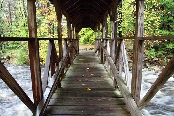 New England Autumn Photograph - Covered Bridge by Denistangneyjr