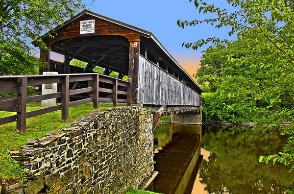 Wall Art - Photograph - Covered Bridge by Frank Savarese