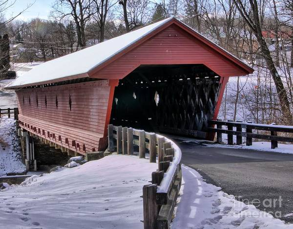 Photograph - Covered Bridge by Rod Best