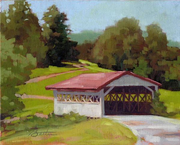 Covered Bridge Painting - Covered Bridge by Todd Baxter