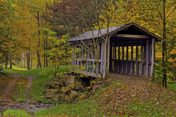 Photograph - Covered Bridge by Torrey McNeal