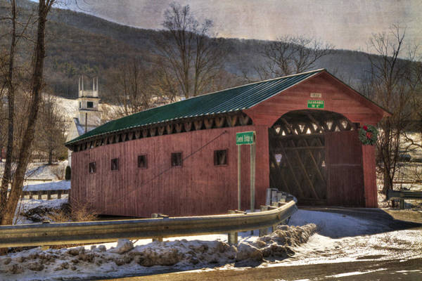 Photograph - Covered Bridge - West Arlington Vt by Joann Vitali