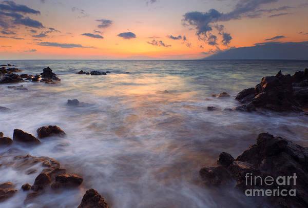 Maui Sunset Photograph - Covered By The Sea by Mike  Dawson