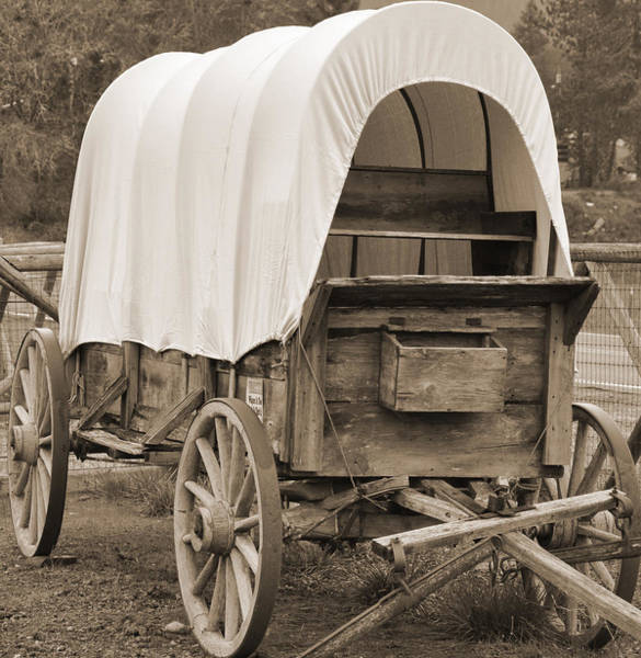 Digital Art - Covered Wagon by Kirt Tisdale