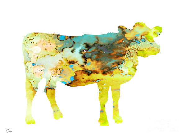 Archival Painting - Cow 3 by Watercolor Girl