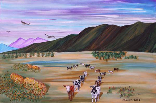 Pikes Peak Painting - Cow 3.14159265 by Mike Nahorniak