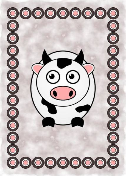 Digital Art - Cow - Animals - Art For Kids by Anastasiya Malakhova