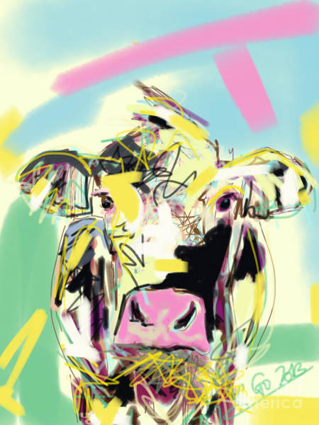 Cow- Happy Cow Art Print